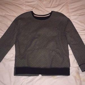 LuluLemon Black and White Thin Striped Sweatshirt